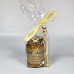 Petit Pot de Miel d'Acacia et sa cuillère