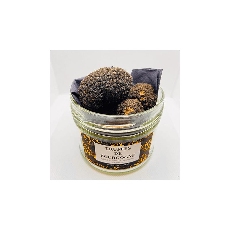 Truffe noir du Périgord. truffe entière de Bourgogne. Pâtes aux Truffes. Nos Saveurs de France