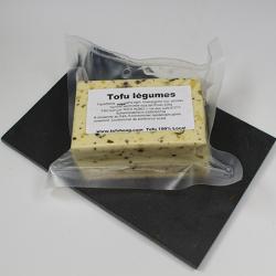 Tofu aux legumes, poireau, oignons, sel. Nos Saveurs de France