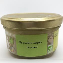 Compote de Pomme Bio pour bébé dès 4 mois. Nos Saveurs de France