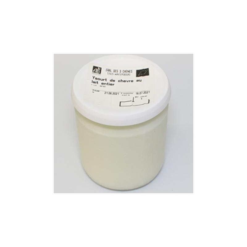 yaourt de chèvre au lait entier nos saveurs de France