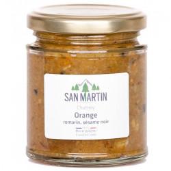 Chutney Orange Romarin Sésame Noir