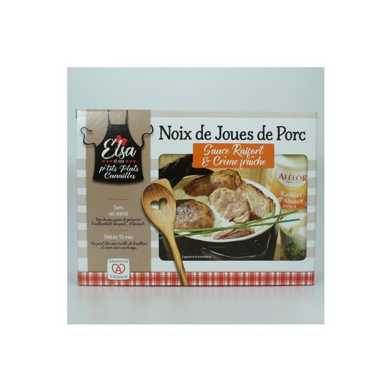 NOIX DE JOUES DE PORC SAUCE RAIFORT & CRÈME FRAICHE